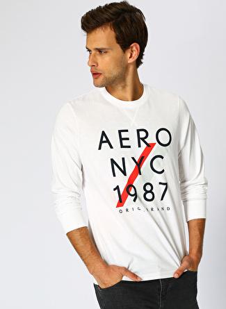Aeropostale Baskılı Beyaz T-Shirt