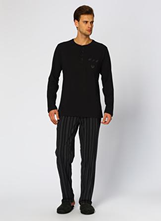 Er Dagi Siyah Pijama Takımı