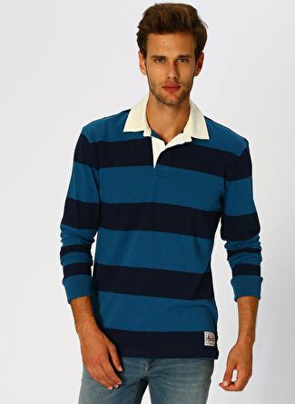 Aeropostale Çizgili Mavi T-Shirt