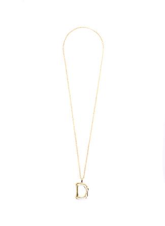 Stylish Accessories Harf Gold Kolye