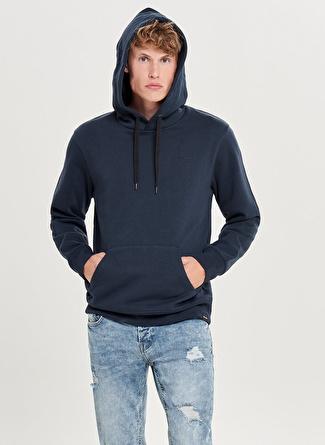 Only & Sons Kapüşonlu Lacivert Sweatshirt