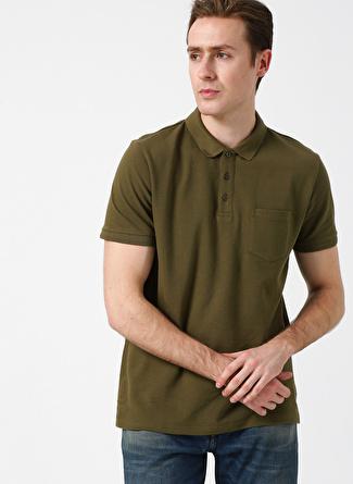 Cotton Bar Haki Polo T-Shirt