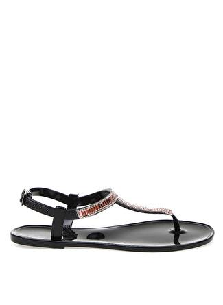 T-box Siyah Sandalet