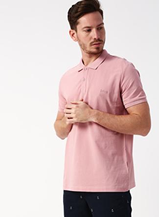 Lee Cooper Polo Yaka Nakışlı Pembe Polo T-Shirt