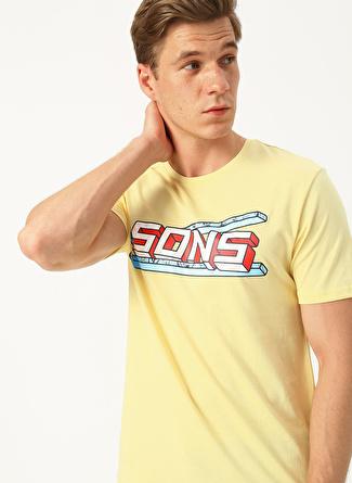 Only & Sons Baskılı Sarı T-Shirt
