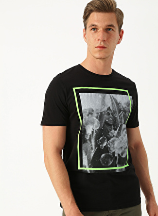 Only & Sons Baskılı Siyah T-Shirt