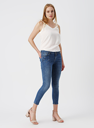 Pierre Cardin Taşlı Skinny Fit Denim Pantolon