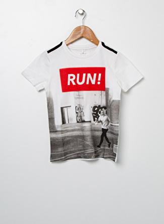name ıt Erkek Çocuk Beyaz T-Shirt