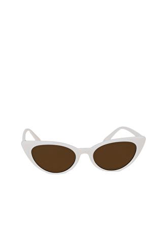 T-box Beyaz Çerçeveli Güneş Gözlüğü