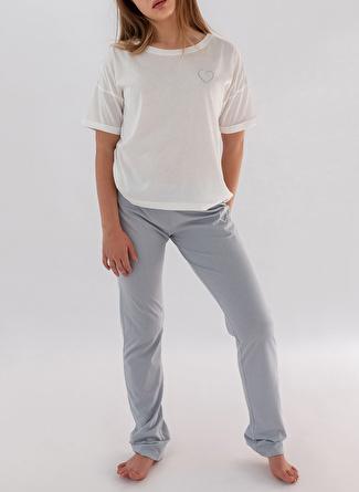 M Ekru Hays Pijama Üst 5002396203003 Kadın İç Giyim