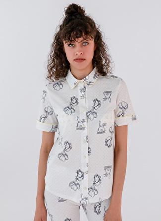 L Gri Melanj Hays Pijama Üst 5002396221002 Kadın İç Giyim