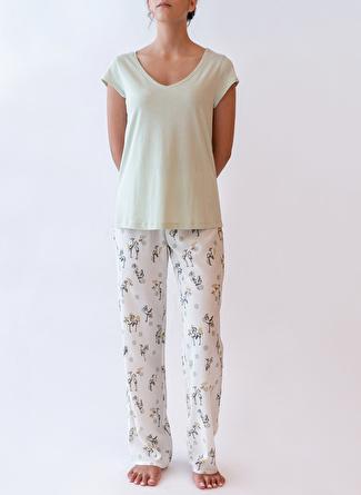 2XL Yeşil Hays Pijama Üst 5002396287001 Kadın İç Giyim
