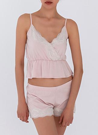 L Gül Kurusu Hays Pijama Şort 5002396307002 Kadın İç Giyim