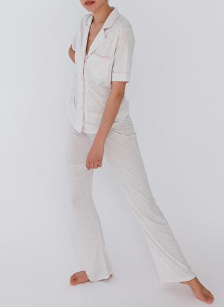 L Gri Melanj Hays Pijama Üst 5002396321002 Kadın İç Giyim