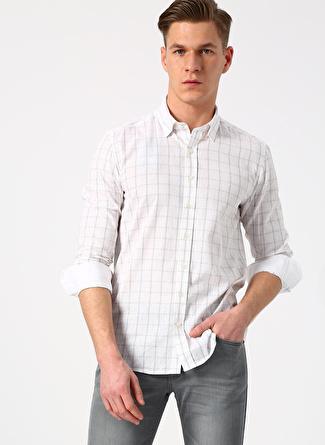 M Beyaz - Gri Beymen Business Gömlek 5002396397002 Erkek Giyim