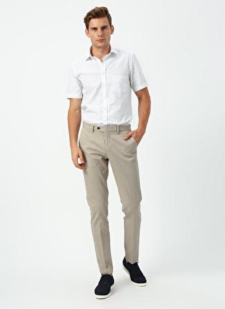 L Beyaz - Mavi Beymen Business Gömlek 5002396425001 Erkek Giyim