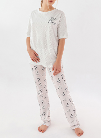 M Siyah Melanj Hays Pijama Alt 5002396457002 Kadın İç Giyim