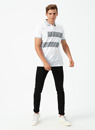 L Beyaz - Gri Beymen Business T-Shirt 5002396547001 Erkek Giyim T-shirt & Atlet
