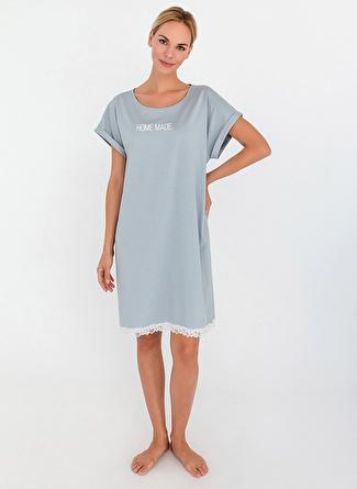 Beyaz Melanj Hays Gecelik 48 5002396603003 Kadın İç Giyim