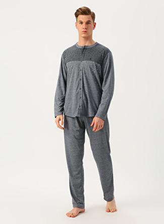 Dagi Gri Desenli Pijama Takımı