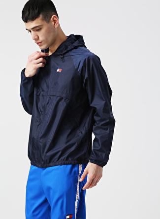 Tommy Sport Lacivert Kapüşonlu Zip Ceket