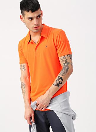 L Turuncu Exuma Polo Yaka T-Shirt 5002422383001 Spor Erkek Giyim T-shirt