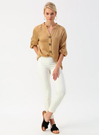 40 Koyu Beyaz İpekyol Kırık Pantolon 5002422446003 Kadın Giyim