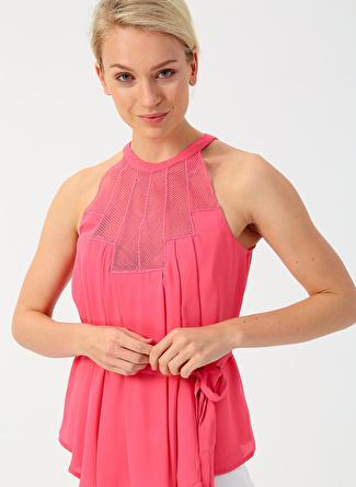 42 Pembe İpekyol Dantel Detaylı Bluz 5002422458005 Kadın Giyim Gömlek &