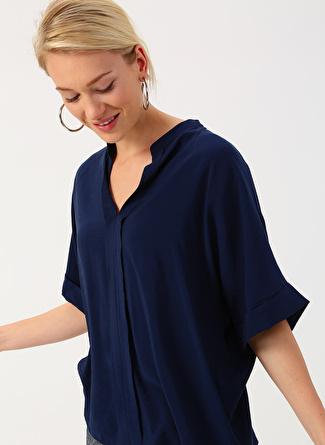 Lacivert İpekyol Bluz 38 5002422462003 Kadın Giyim Gömlek &
