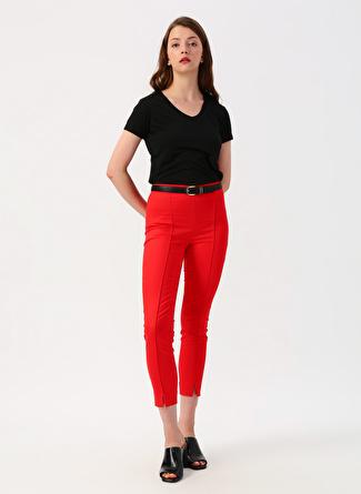 40 Kırmızı Twist Yan Fermuarlı Pantolon 5002422505004 Kadın Giyim