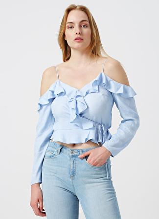 40 Mavi Twist Bluz 5002422511004 Kadın Giyim Gömlek &