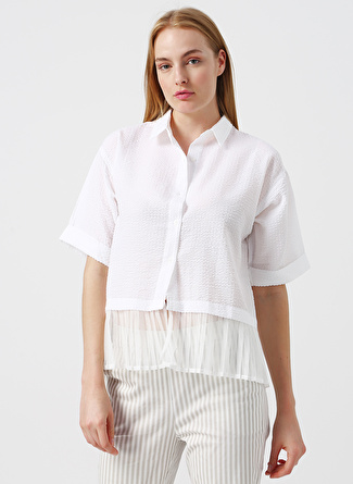 40 Beyaz Twist Gömlek 5002422524004 Kadın Giyim & Bluz