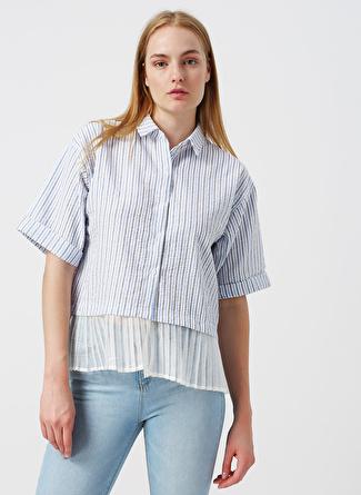 36 Lacivert Twist Gömlek 5002422525002 Kadın Giyim & Bluz