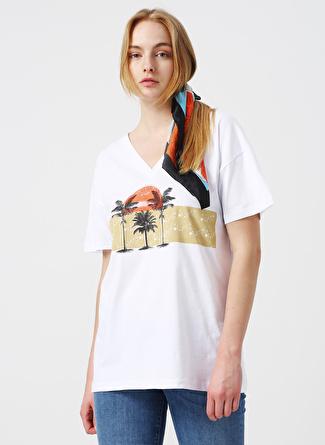 L Beyaz Twist Bluz 5002422544001 Kadın Giyim Gömlek &