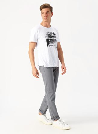 31 Gri Limon Armürlü Beyaz Klasik Pantolon 5002422626002 Erkek Giyim