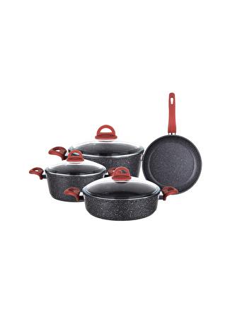 unisex Renksiz Aryıldız Terra Granit 7 Parça Tencere Seti 5002422720001 Ev Mutfak & Sofra Ürünleri Pişirme