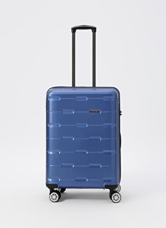 unisex Mavi David Jones Orta Boy Çekçekli Sert Valiz 5002422763001 Ayakkabı & Çanta Seyahat Çantası