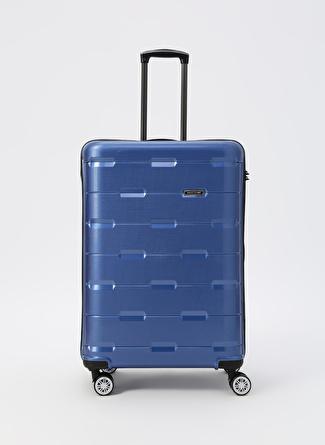 unisex Mavi David Jones Büyük Boy Çekçekli Sert Valiz 5002422764001 Ayakkabı & Çanta Seyahat Çantası