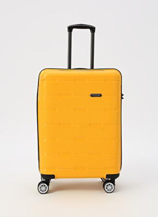 unisex Sarı David Jones Orta Boy Çekçekli Sert Valiz 5002422766001 Ayakkabı & Çanta Seyahat Çantası