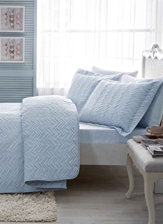 180 X 240 cm unisex Mavi Taç Blaze Yatak Örtüsü 5002423201001 Ev Tekstili