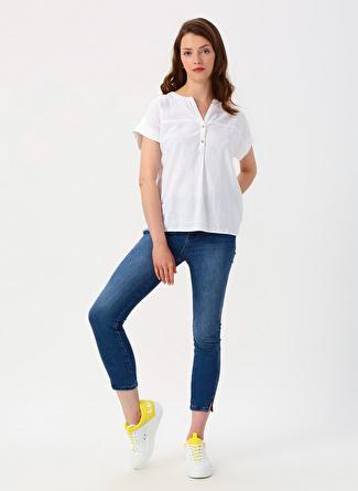 Koton Skinny Fit İndigo Denim Pantolon
