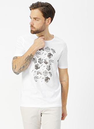 Kip Beyaz Baskılı T-Shirt