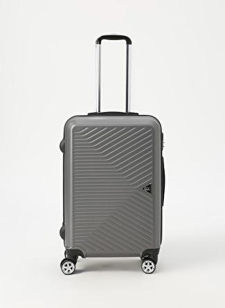 unisex Renksiz Ox Antrasit Orta Boy Çekçekli Sert Valiz 5002438459001 Ayakkabı & Çanta Seyahat Çantası