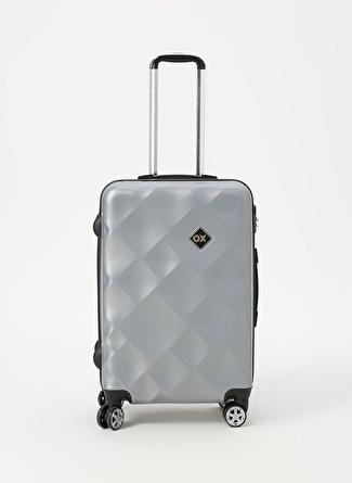 unisex Renksiz Ox Gri Orta Boy Çekçekli Sert Valiz 5002438480001 Ayakkabı & Çanta Seyahat Çantası
