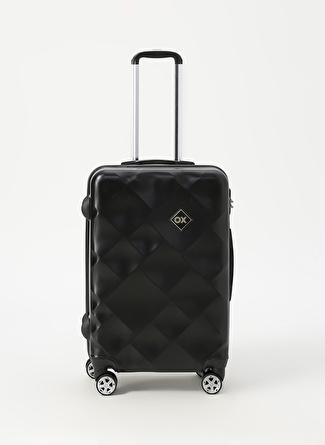 unisex Renksiz Ox Siyah Orta Boy Çekçekli Sert Valiz 5002438481001 Ayakkabı & Çanta Seyahat Çantası