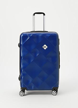 unisex Renksiz Ox Lacivert Büyük Boy Çekçekli Sert Valiz 5002438486001 Ayakkabı & Çanta Seyahat Çantası