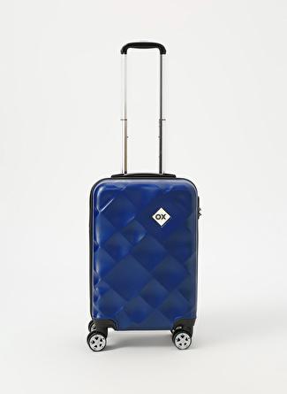 unisex Renksiz Ox Lacivert Kabin Boy Çekçekli Sert Valiz 5002438492001 Ayakkabı & Çanta Seyahat Çantası