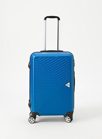 unisex Renksiz Ox Petrol Orta Boy Çekçekli Sert Valiz 5002438511001 Ayakkabı & Çanta Seyahat Çantası