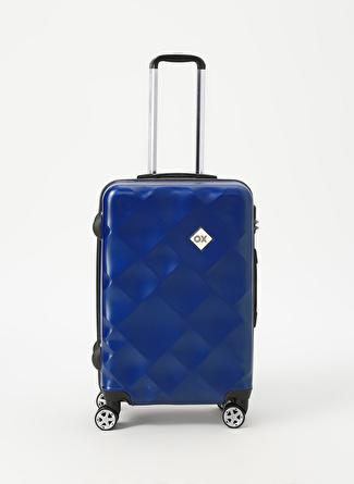 unisex Renksiz Ox Lacivert Orta Boy Çekçekli Sert Valiz 5002438513001 Ayakkabı & Çanta Seyahat Çantası