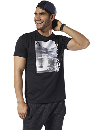 S Siyah Reebok DY7841 One Series Training PhotoPrint T-Shirt 5002439264003 Spor Erkek Giyim T-shirt